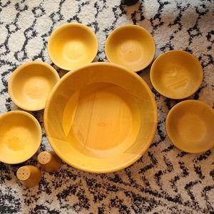 Vintage Baribocraft 9 piece salad bowl set